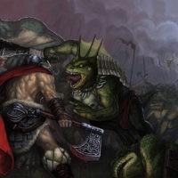 Batalia z jaszczurami
