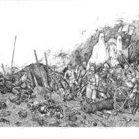 Bitwa pod wieprzem 1 - Akwaforta