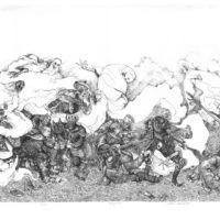 Bitwa pod wieprzem 2 - Akwaforta