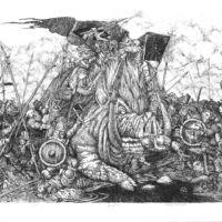 Bitwa pod wieprzem 3 - Akwaforta