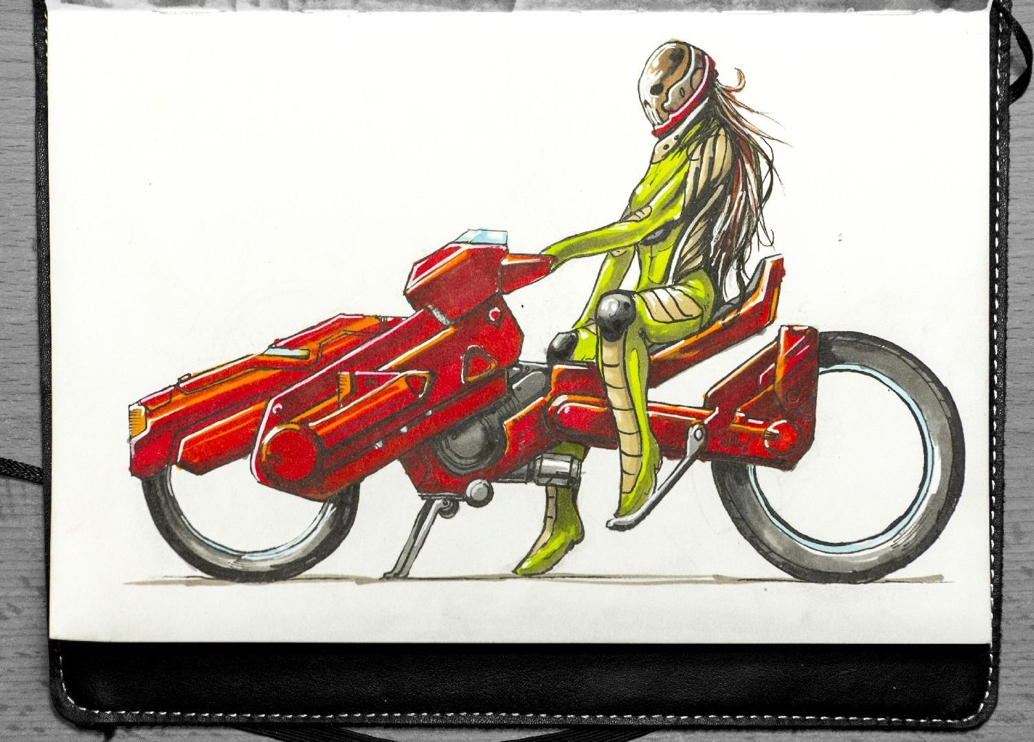scifi motocykl